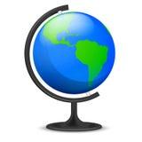 Objeto del globo de la educación de América aislado Imagen de archivo libre de regalías