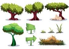 Objeto del paisaje de la naturaleza del vector de la historieta con las capas separadas para el activo del diseño de juego del ar Fotos de archivo libres de regalías