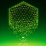 Objeto del verde del espacio que se estrella Fondo abstracto del vector con las estrellas minúsculas Resplandor del sol de la par Fotos de archivo libres de regalías