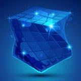 Objeto dimensional da grão plástica criado das figuras geométricas, ilustração stock