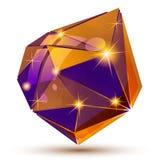 Objeto dimensional da grão plástica criado das figuras geométricas, ilustração royalty free