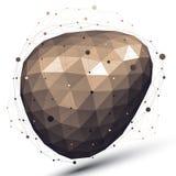 objeto do projeto do sumário do vetor 3D, figura complicada Imagem de Stock Royalty Free