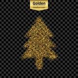 Objeto do vetor do brilho do ouro Imagem de Stock