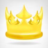 Objeto dourado da coroa isolado Fotografia de Stock