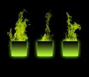 Objeto en el fuego Imagen de archivo