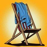 Objeto en estilo retro El sillón de la playa con abandonado viste ilustración del vector