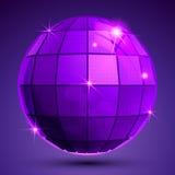 Objeto esférico plástico textured brilhante com flashes Fotos de Stock Royalty Free