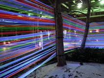 Objeto expuesto de la cinta del resplandor de Georgetown en la noche Fotos de archivo libres de regalías