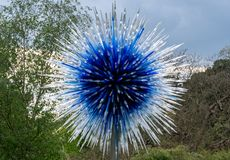 Objeto expuesto de ?Sapphire Star ?de Victoria Gate en la exposici?n de la naturaleza de Londres Reino Unido de los jardines de K foto de archivo libre de regalías