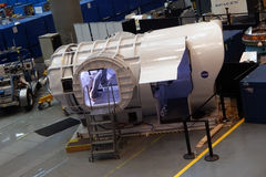 Objeto expuesto en el centro del visitante de Lyndon B Johnson Space Center Fotografía de archivo