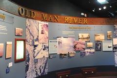 Objeto expuesto en el depósito de tren, Helena Arkansas del río del viejo hombre Fotos de archivo