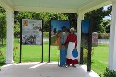 Objeto expuesto en el parque de la libertad, Helena Arkansas Fotografía de archivo