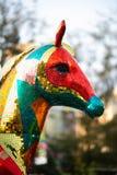 Objeto expuesto modelo brillante del caballo de Hong Kong Flower Show 2018 imagenes de archivo