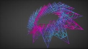 Objeto futurista do átomo da química de Omplex Imagens de Stock Royalty Free