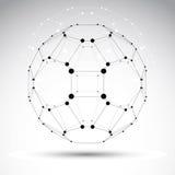 Objeto geométrico abstracto de la malla del vector 3D stock de ilustración