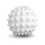 Objeto geométrico blanco abstracto de la esfera con la sombra Imagen de archivo