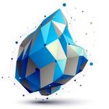 Objeto geométrico del enrejado del extracto 3D del vector Fotos de archivo libres de regalías