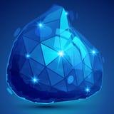 Objeto geométrico dimensional colorido da grão plástica, efervescência s ilustração royalty free