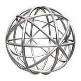 Objeto geométrico metálico ilustração stock