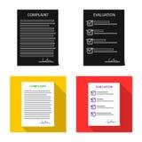 Objeto isolado do ícone do formulário e de original Grupo da ilustração conservada em estoque do vetor do formulário e da marca ilustração royalty free