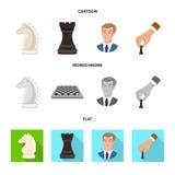 Objeto isolado do checkmate e do ?cone fino Ajuste da ilustra??o do vetor do estoque do checkmate e do alvo ilustração do vetor