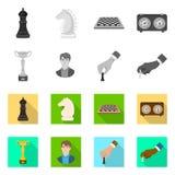 Objeto isolado do checkmate e do ?cone fino Ajuste da ilustra??o do vetor do estoque do checkmate e do alvo ilustração stock