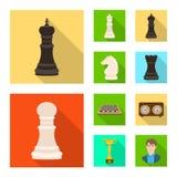 Objeto isolado do checkmate e do ?cone fino Ajuste do ?cone do vetor do checkmate e do alvo para o estoque ilustração do vetor
