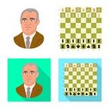 Objeto isolado do checkmate e do logotipo fino Ajuste da ilustra??o do vetor do estoque do checkmate e do alvo ilustração royalty free