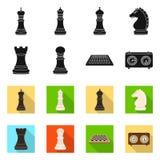 Objeto isolado do checkmate e do logotipo fino Cole??o do ?cone do vetor do checkmate e do alvo para o estoque ilustração do vetor