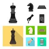 Objeto isolado do checkmate e do logotipo fino Cole??o do s?mbolo de a??es do checkmate e do alvo para a Web ilustração do vetor