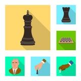 Objeto isolado do checkmate e do símbolo fino Ajuste da ilustração do vetor do estoque do checkmate e do alvo ilustração stock