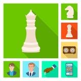 Objeto isolado do checkmate e do s?mbolo fino Ajuste do ?cone do vetor do checkmate e do alvo para o estoque ilustração stock