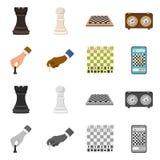 Objeto isolado do checkmate e do s?mbolo fino Cole??o do ?cone do vetor do checkmate e do alvo para o estoque ilustração royalty free