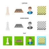 Objeto isolado do checkmate e do s?mbolo fino Cole??o do s?mbolo de a??es do checkmate e do alvo para a Web ilustração do vetor