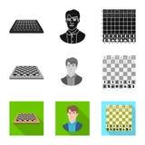 Objeto isolado do checkmate e do sinal fino Ajuste do ?cone do vetor do checkmate e do alvo para o estoque ilustração royalty free