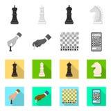 Objeto isolado do checkmate e do sinal fino Ajuste da ilustração do vetor do estoque do checkmate e do alvo ilustração royalty free