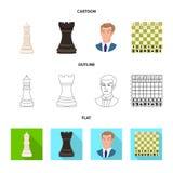 Objeto isolado do checkmate e do sinal fino Ajuste da ilustra??o do vetor do estoque do checkmate e do alvo ilustração do vetor