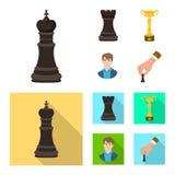 Objeto isolado do checkmate e do sinal fino Cole??o do ?cone do vetor do checkmate e do alvo para o estoque ilustração stock