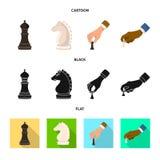 Objeto isolado do checkmate e do sinal fino Cole??o da ilustra??o do vetor do estoque do checkmate e do alvo ilustração do vetor