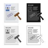 Objeto isolado do logotipo do formulário e do original Coleção do símbolo de ações do formulário e da marca para a Web ilustração stock