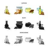 Objeto isolado do símbolo saudável e vegetal Coleção do símbolo de ações saudável e da agricultura para a Web ilustração royalty free
