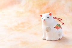 Objeto japonés del perro del Año Nuevo en amarillo Foto de archivo libre de regalías