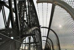 Objeto metálico detalhado do close-up em Sydney Harbour Bridge imagens de stock royalty free