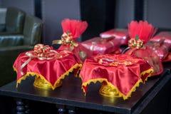 Objeto para a cerimônia de casamento Tailandês-chinesa imagens de stock