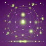 Objeto poligonal da malha do origâmi 3D abstrato, vetor Imagem de Stock Royalty Free