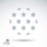 """Objeto redondo abstracto del invierno con weath del †hermoso de los copos de nieve el """" Foto de archivo libre de regalías"""