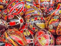 Objeto rumano hecho a mano en el otoño tradicional justo fotos de archivo