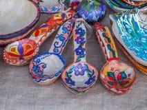 Objeto rumano hecho a mano en el otoño tradicional justo imagen de archivo