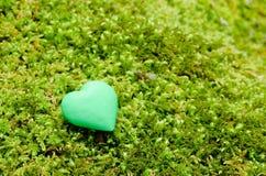 Objeto verde del corazón Foto de archivo libre de regalías