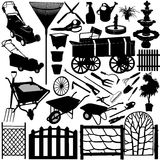 Objetos 3 del jardín libre illustration